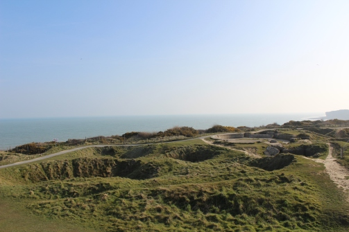 Standing at Pointe du Hoc in Normandy took me to a completely new level of understanding of the war. Seeing the craters in the earth, the old concrete shelters and the barbed wire still standing made me very aware of the fact that there were people here, living in the war and dying in the war.