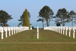 The American Cemetery and its rows of white crosses. Here, hundreds and hundreds of soldiers and civilians were laid to rest for the last time, having been moved and reburied up to three times before then.