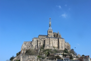 Mont St. Michel is literally a castle island. It is absolutely beautiful to behold, rich in history and full of stories I wanted to track down.