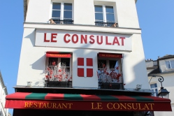 "Apparently Le Consulat was not only the scene of Woody Allen's ""I Love You."" It's also one of his favorite places to frequent in Paris."