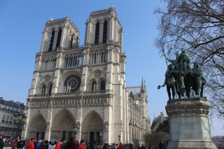 Notre Dame is every bit as beautiful as I was led to believe. Both the outside and inside are absolutely stunning.