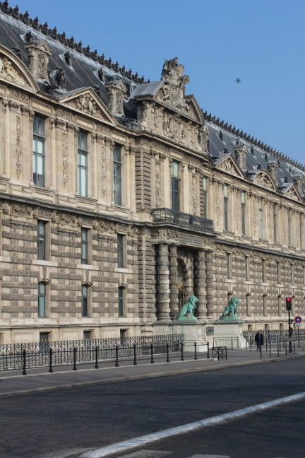 The Louvre is absolutely gargantuan. Though I didn't have time to go inside, just walking around outside was a worthwhile experience.