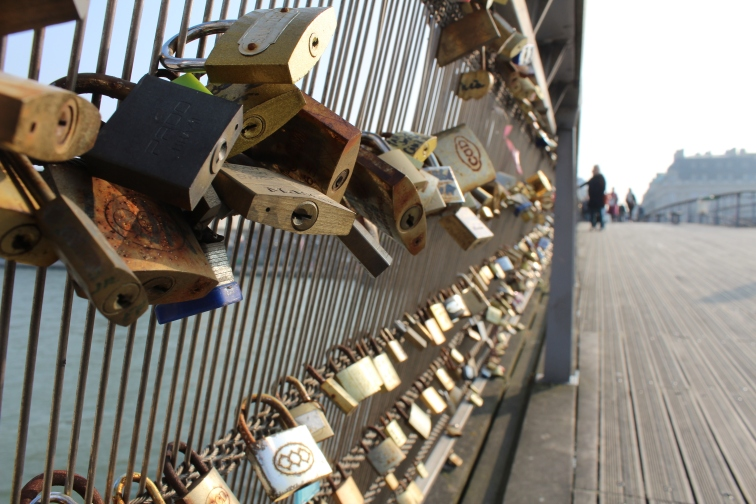 After Paris tore the locks off the former Love Lock Bridge, a new bridge began accumulating the symbols of everlasting love. This time, i hope Paris will at least do us the service of making the locks an art exhibit should they need to be removed.